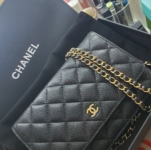 Chanel Caviar Wallet On Chain WOC
